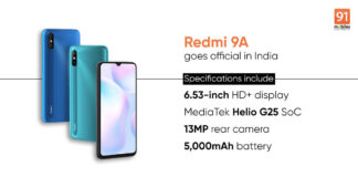 Mi Redmi 9A vs Realme C12: review